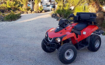 atv in santorini